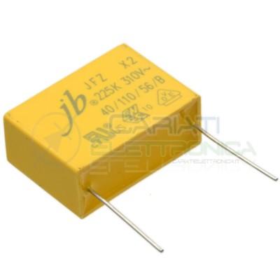 Condensatore polipropilene 2,2uF 2,2 uF 310Vac MKP X2 Passo 27.5mm 10%