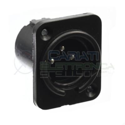 Connettore XLR Maschio 3 poli da pannello PCB Connettore Audio Mixer Microfono Cannon  1,10€