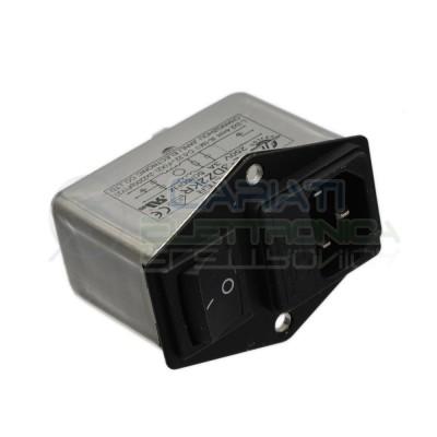 Filtro di rete EMI 3A con presa IEC interruttore e portafusibile da pannello  6,99€