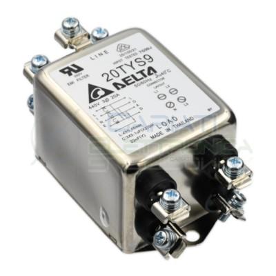 Filtro di rete EMI Trifase 20A induttivo capacitivo 20TYS9 Delta Electronics  25,90€