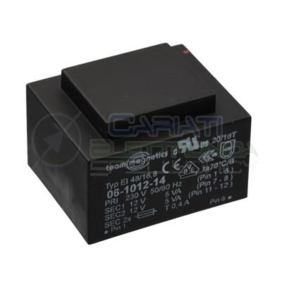 Trasformatore incapsulato 10VA 230V Doppia Uscita 2 x 12V  8,80€