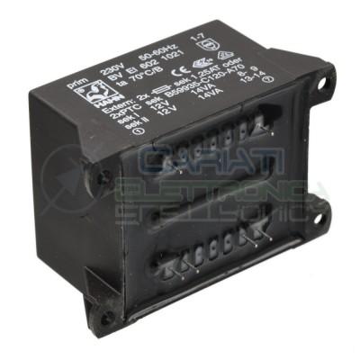 Trasformatore incapsulato 28VA Ingresso 230V Ac Uscita 2x12V DC  13,59€