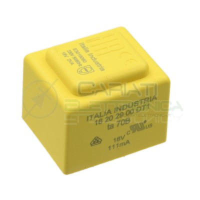 Trasformatore incapsulato da per PCB 2VA ingresso 230V singola Uscita 18V 118mA