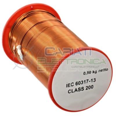 Rotolo filo Cavo bobina di rame da 0,5mm 0,5Kg singolarmente smaltato per avvolgimenti