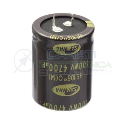 Condensatore elettrolitico 4700uF 4700 uF 100V 105°C SAMWHA SNAP IN 35x45mm Samwha 4,49€
