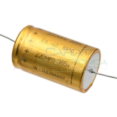 Condensatore elettrolitico 220uF 220 uF 385V 85°C assiale 30x50mm ELKO Rauh ELKO Rauh