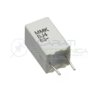 Condensatore in poliestere KEMET 2,2uF 2,2 uF 63V Passo 5mm 5% MKS  1,00€