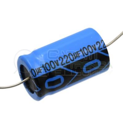 Condensatore elettrolitico 220uF 220 uF 100V 85°C assiale 16x28mm Lelon Lelon