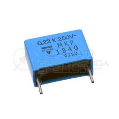 Condensatore in Polipropilene 220nF 0.22uF 250V Passo 15mm 10% VISHAY Vishay