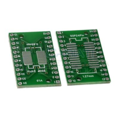 2 Pezzi Adattatore Basetta Test PCB SSOP24 e SOP24 SOP SSOP 24 pinGenerico