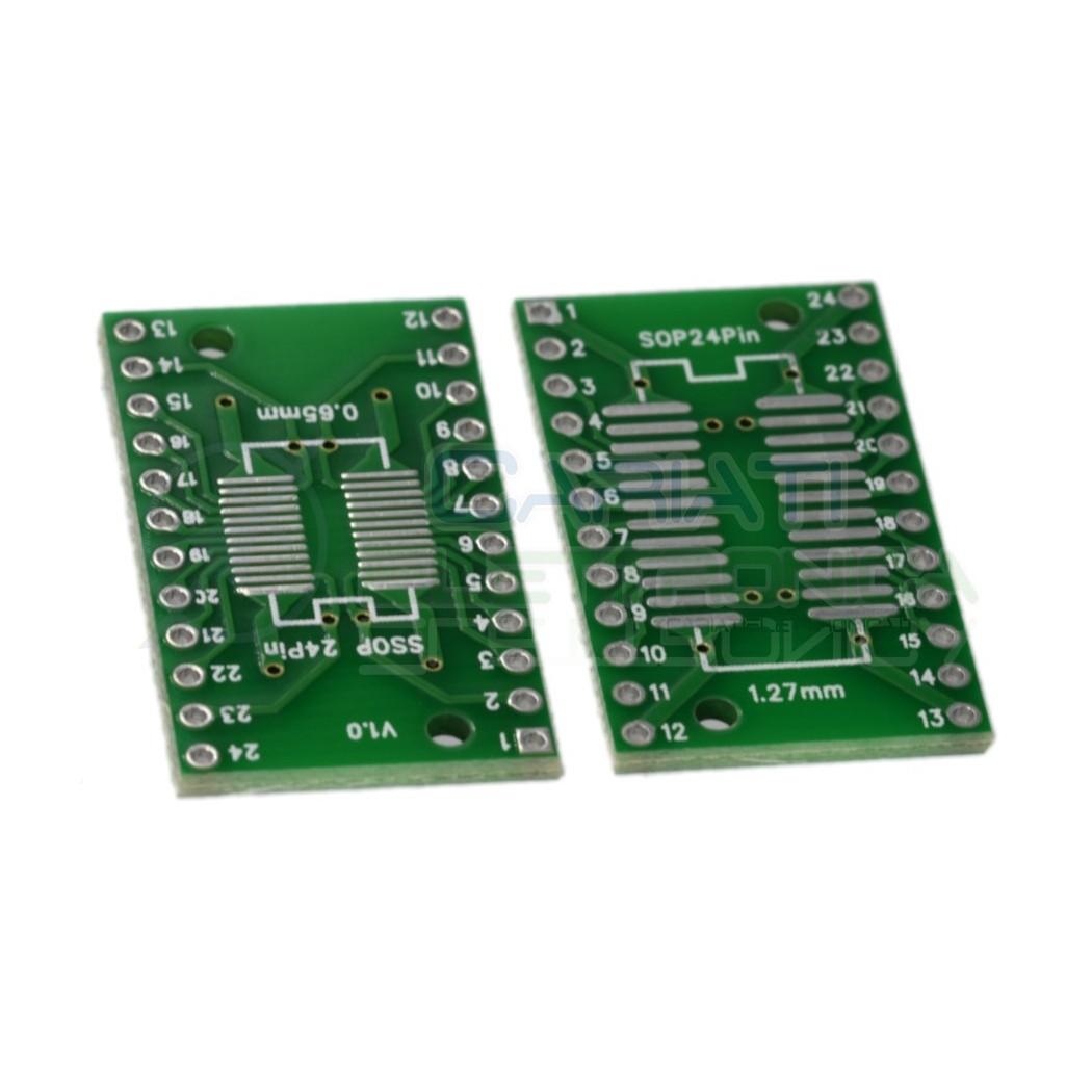 2 Pezzi Adattatore Basetta Test PCB SSOP24 e SOP24 SOP SSOP 24 pin Generico 0,89€