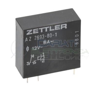 Relè singolo scambio 12V 8A AZ-2693-80-1 AZ2693801SPDT 12V 12Vdc ZETTLER Zettler 1,39€