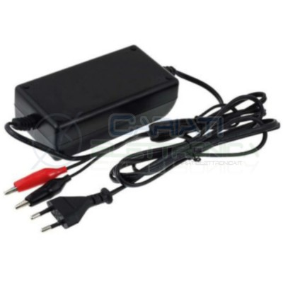 Caricabatterie 12V dc 2A per batterie al piombo Battery Charger