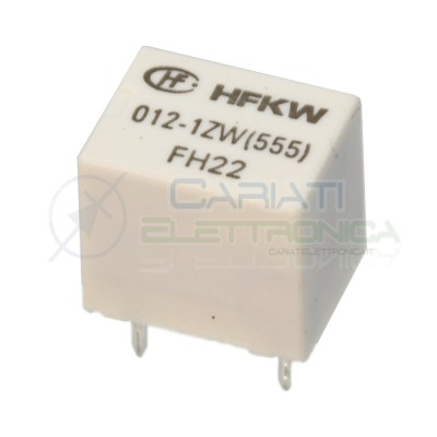 Relè singolo scambio 12V 20A HFKW 012-1ZW (555) SPDT 12Vdc Hongfa HONGFA RELAY 1,39€