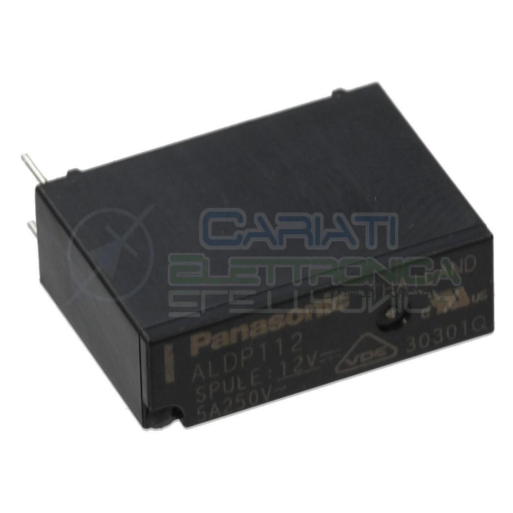 Relè singolo scambio 12V 5A ALDP112 SPST 12Vdc Panasonic Panasonic 1,39€