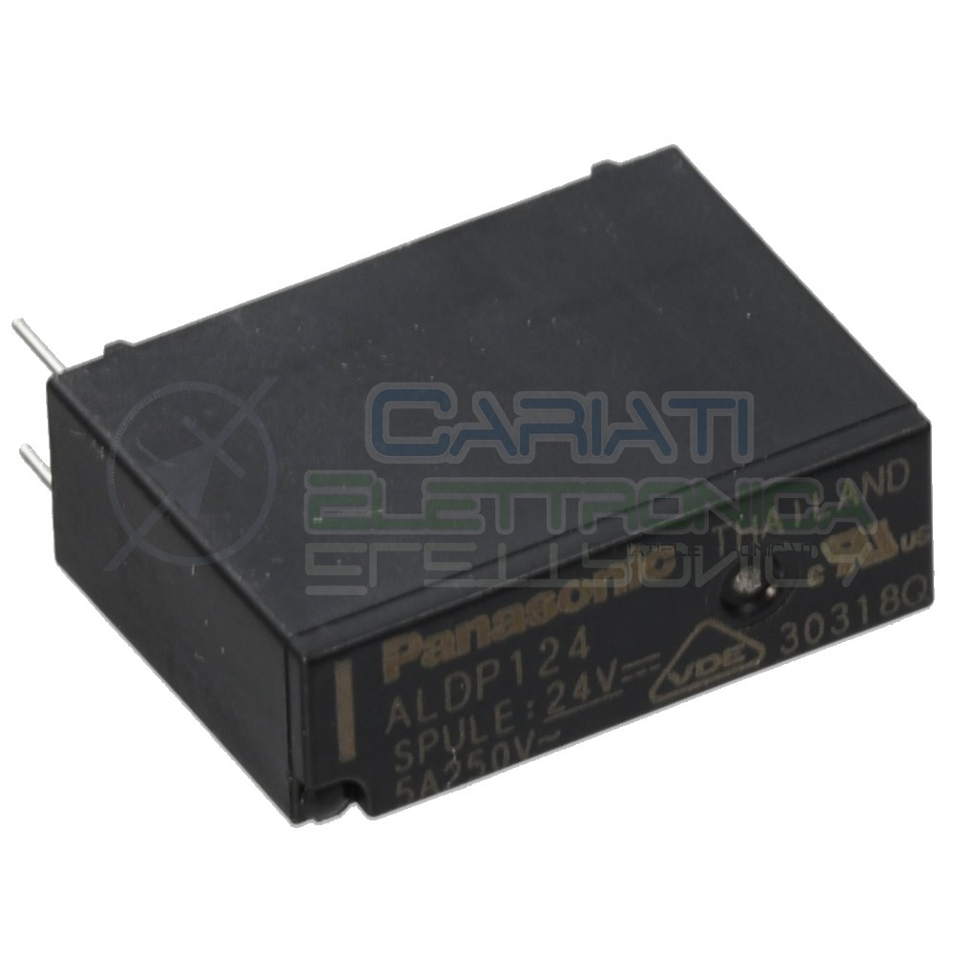 Relè singolo scambio 24V 5A ALDP124 SPST 24Vdc Panasonic Panasonic 1,39€