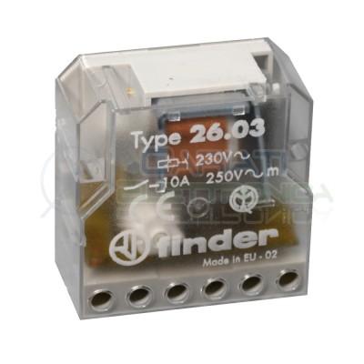 Relè Finder 26.03.8.230.0000 passo passo ad impulsi Luci Scale 230Vac 10A Finder