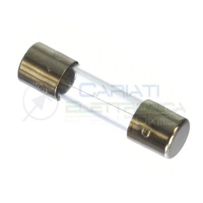 10 PEZZI FUSIBILI FUSIBILE IN VETRO 2A 5X20 mm RAPIDI 2 AMPERE Generico