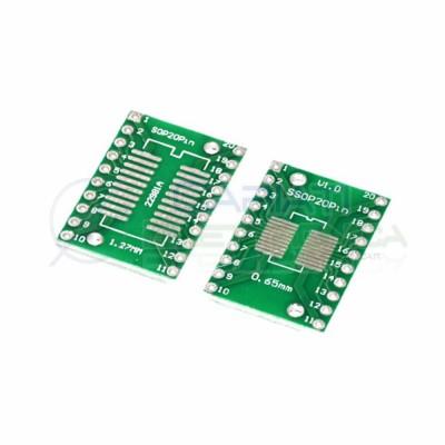 2 pezzi adattatore basetta test pcb SOP20 SSOP20 smd a DIP20 20pin Generico