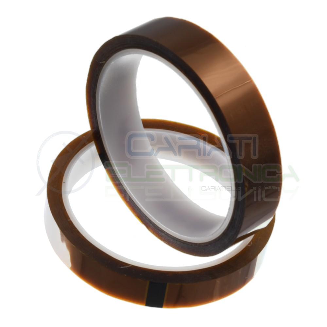 Nastro adesivo tipo kapton 25mm 33m alta temperatura termico bga rework Generico 6,59€