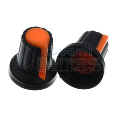 5 PEZZI Manopola Pomello Knob Arancione per Potenziometro con diametro innesto 6mm Generico