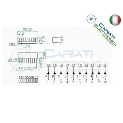 Display ledbar 10 livelli con led verde barra a Led Generico