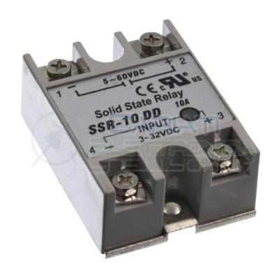 Relè Statico 10A 3-32Vdc 5-60Vdc SSR-10 DD Stato Solido Relay Generico