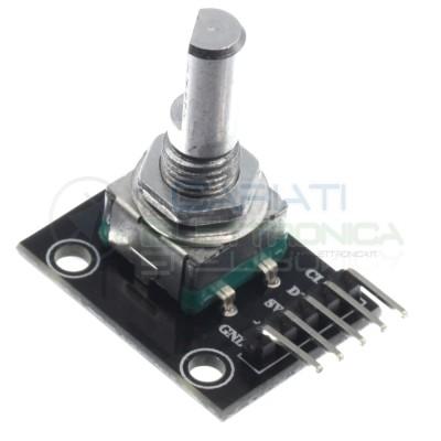 Modulo encoder rotativo 2 canali con pulsante arduino pic Generico
