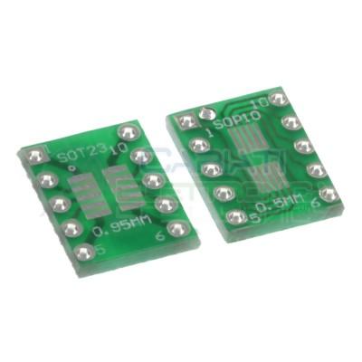 2 Pezzi Adattatore Basetta Test PCB SOP10 SO10 SOIC10 SMD a DIP10 10 ContattiGenerico