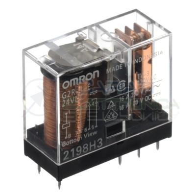 Relè OMRON G2R-1-E bobina da 24Vdc 16A 250Vac 10A 30Vdc SPDT Omron