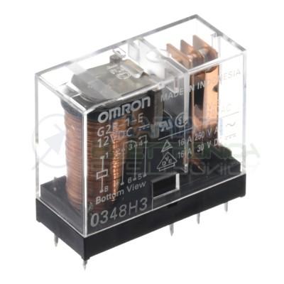 Relè OMRON G2R-1-E bobina da 12Vdc 12V 16A 250Vac 16A 30Vdc SPDT Omron