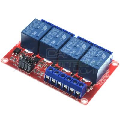 Scheda 4 Relay QUATTRO Relè 24V Dc 10A Singolo 1 Scambio SONGLE SRD-24VDC-SL-C SPDT PCB Generico 3,59€