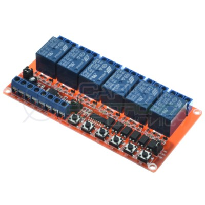 Scheda 6 Relay Relè 24V Dc 10A SONGLE SRD-24VDC-SL-C SPDT Monostabile Bistabile Generico 15,59€