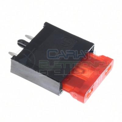 Porta fusibile da pcb circuito per fusibili 19mm a lama lamellari 15A Generico