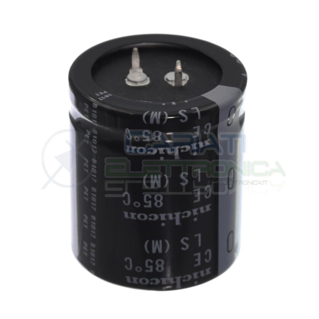 Condensatore elettrolitico 12000uF 12000 uF 50V 85°C nichicon snap in 35x40mm Nichicon 6,00€