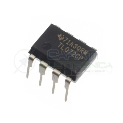 2 pezzi TL072CP Amplificatore Operazionale J-FET NJM072 Dual Operational Amplifier Texas instruments