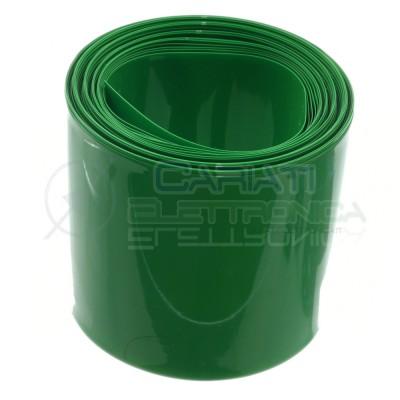 PVC Tubo termorestringente da 65mm per batterie 18650 lunghezza 1 metro 1m verde Generico