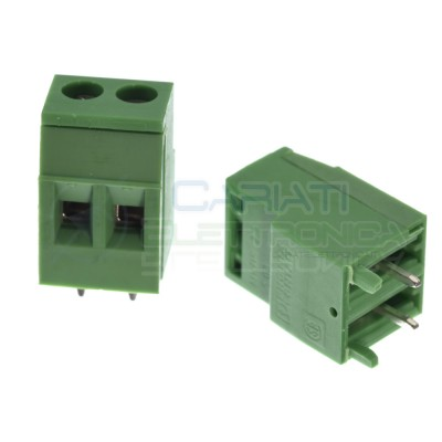 2 pezzi Morsetto Morsettiera 2 Poli per pcb 300V 10A Phoenix Contact 18mm altezza Phoenix contact