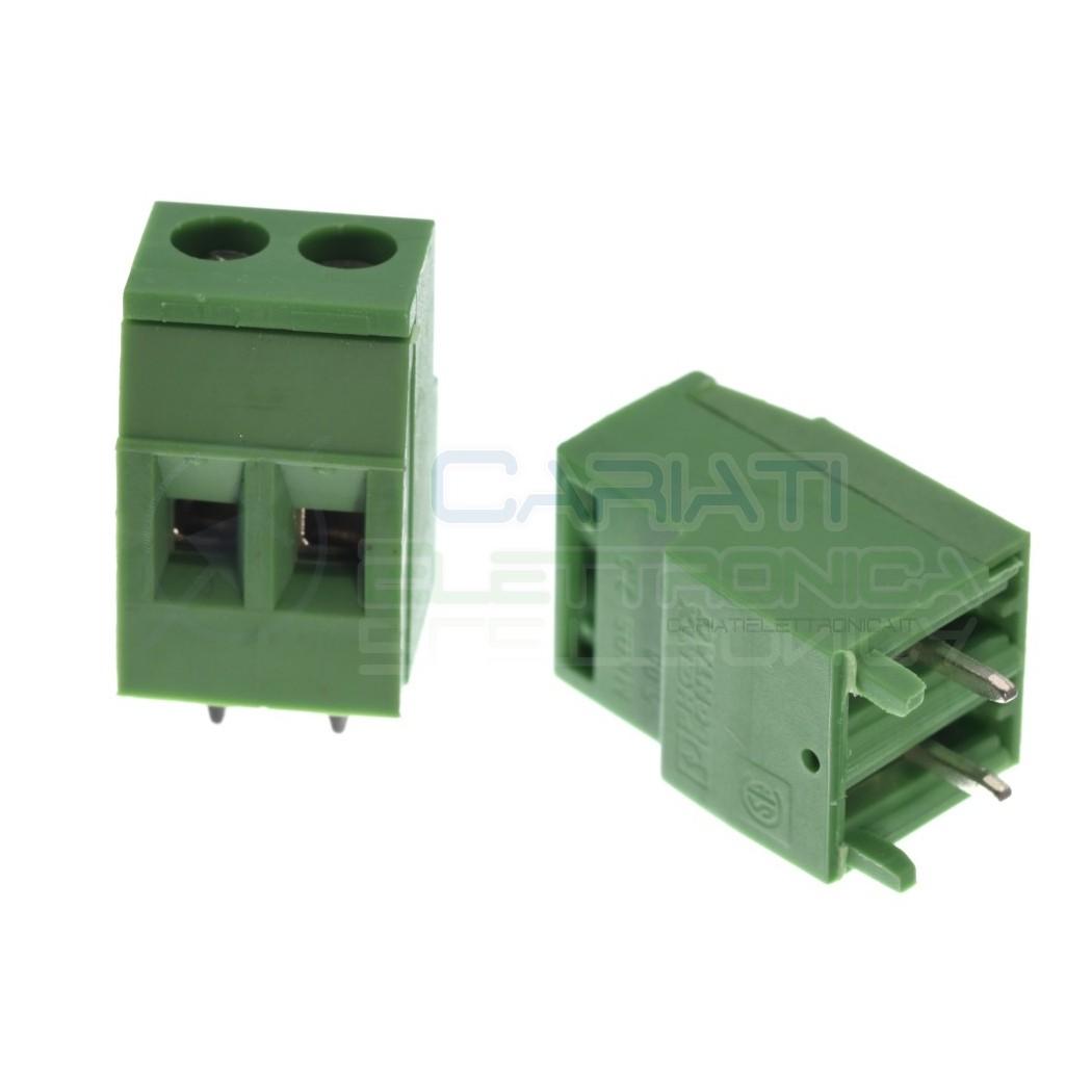 2 pezzi Morsetto Morsettiera 2 Poli per pcb 300V 10A Phoenix Contact 18mm altezza Phoenix contact