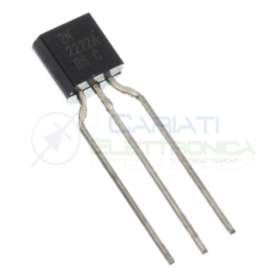 10 pezzi Transistor 2N2222A 2N2222 Bjt npn 75V 0.6A 625mW 3 Pin TO-92DIOTEC SEMICONDUCTOR