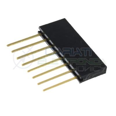 5 pezzi connettori strip line 8 poli femmina lunghi per Arduino striplineGenerico