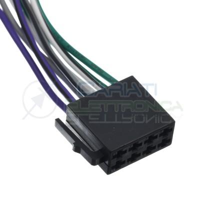 Cavo connettore ISO autoradio femmina 8 Pin alimentazione altoparlanti Generico