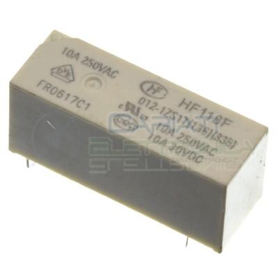 Relè relay Hongfa HF118F 012-1ZS1T bobina 12VDC SPDT 10A 5 pin HONGFA RELAY 1,59€