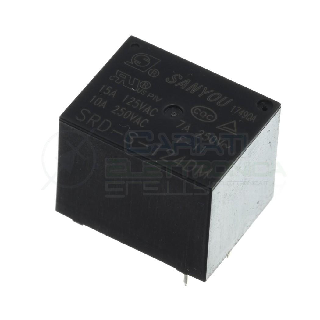 Relè relay Sanyou SRD-S-124DM bobina 24VDC SPST 10A 250Vac 4 pin Sanyou 0,89€