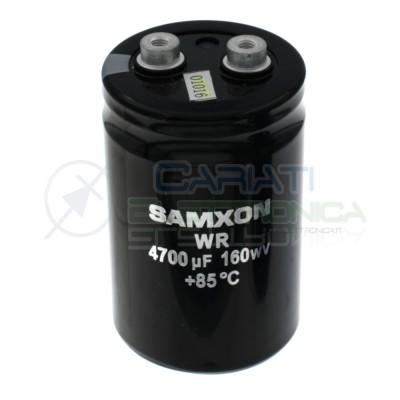 Condensatore elettrolitico 4700uF 4700 uF 160V 85°C snap in 80x50mm Samxon Samxon