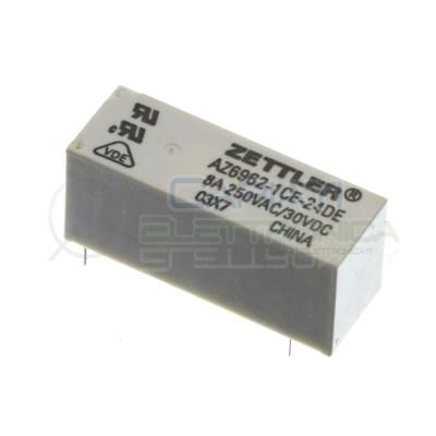 Relè relay Zettler Bobina 24V AZ6962-1CE-24DE SPDT per pcb singolo contatto 8A Zettler 1,69€
