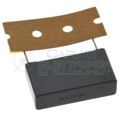 Condensatore polipropilene 2,2uF 2,2 uF 250Vac R60 Passo 27.5mm 10% Kemet