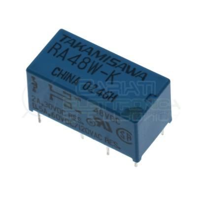 Relè doppio 2 scambio Takamisawa RY48W-K 48Vdc 48V dc 0.5A 120V DPDT Takamisawa