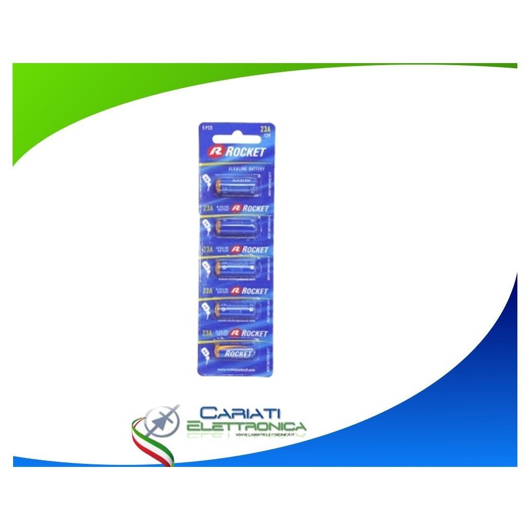 5 Batterie A23 23A Rocket 12V Alcalina E23A V23A V23PX V23GA L1028 MN21 G23A Rocket 2,99€