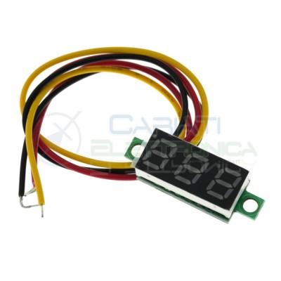Display Lcd Verde Voltometro DC 0-100V 12V 24V 30V Tensione Tester Generico